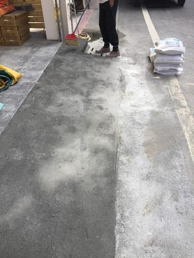 台中車庫抿石子泥作-台中泥作