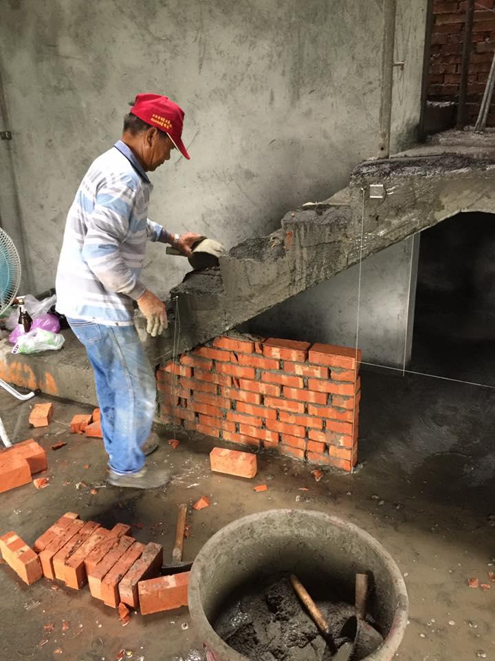 台中房屋泥作-台中泥作-釣線和粗底